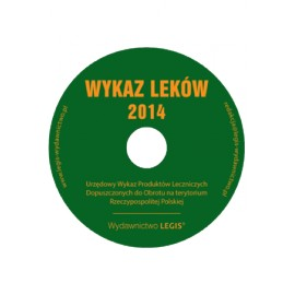 Wykaz Leków 2014 CD. Urzędowy Wykaz Produktów Leczniczych Dopuszczonych do Obrotu na terytorium Rzeczypospolitej Polskiej