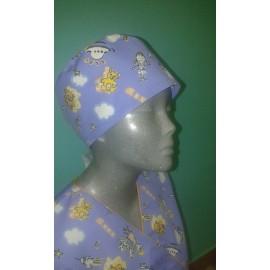 Czepek chirurgiczny bawełniany wzór pediatryczny STRECZ