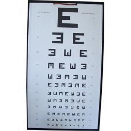 Tablica okulistyczna do badania z 5m widełkowa