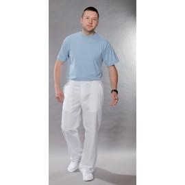 Spodnie lekarskie męskie M7612 (rozmiar 44/176, nogawka prosta, kolor biały)W