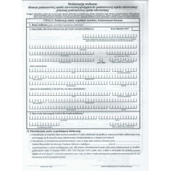 Druki - Deklaracja wyboru lekarza/pielęgniarki/ położnej POZ