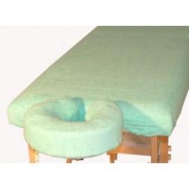 Komplet frotte - pokrycie na stół i zagłówek