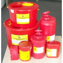 Pojemnik na odpady medyczne (5 l czerwony) nr kat.13312