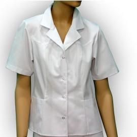 Bluza lekarska damska Finezja (rękaw krótki, zapięcie na napy)