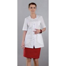 Bluza lekarska damska M2004 (rękaw krótki, zapięcie na napy)W