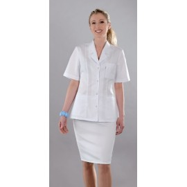 Bluza lekarska damska M2013 (rękaw krótki, zapięcie na napy)W