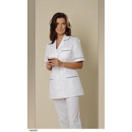 Bluza lekarska damska M2048 (rekaw krótki, zapięcie na napy)W