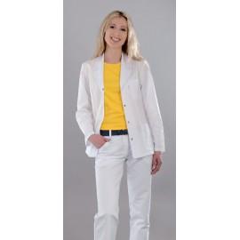 Bluza lekarska damska M2013 (rękaw długi, zapięcie na napy)