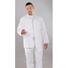 Bluza lekarska męska M6002 (rekaw długi, zapięcie na napy, kolor biały)W