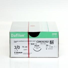 Nici chirurgiczne niewchłanialne Dafilon (DS 24, igła 3/8 koła odwrotnie tnąca) BBraun