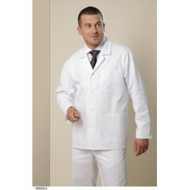 Bluza lekarska męska M6003 (rękaw długi, zapięcie na napy, kolor biały)W  nr kat.13619