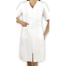 Fartuch lekarski damski Kolendra (rękaw krótki, materiał strecz)