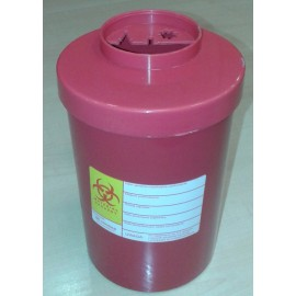 Pojemnik na odpady medyczne (1-1,5 l, czerwony)