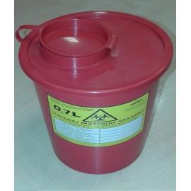 Pojemnik na odpady medyczne (0,7 l, czerwony)
