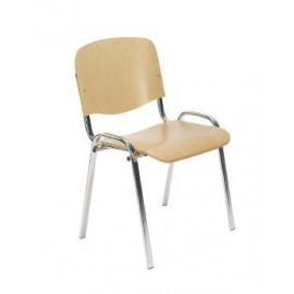 Krzesło ISO WOOD chrom NS