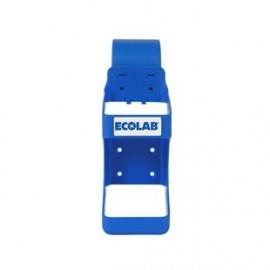Hak z uchwytem na butelkę (niebieski, zaczepiany na łóżko szpitalne) Ecolab