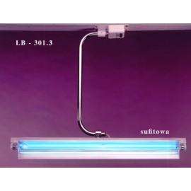 Lampa bakteriobójcza sufitowa 1x30 LB-301.3 z jednym promiennikiem i licznikiem czasu pracy