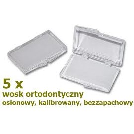 Wosk osłonowy do aparatów ortodontycznych (5 szt.)