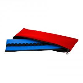 Ampularium na 34 ampułki TRM-51 (niebieskie) z pokrowcem (czerwonym)
