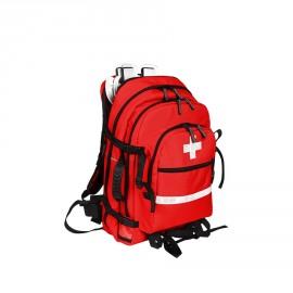 Apteczka pierwszej pomocy typu plecak 50l TRM-27 z komorą na kołnierze (kolor czerwony)