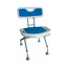 Fotel prysznicowy z oparciem, z powłoką antypoślizgową Blue Aston