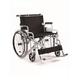 Wózek inwalidzki stalowy z siedziskiem 60 cm (z dodatkową stabilizacją ramy)