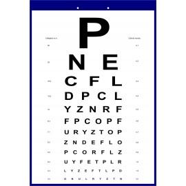 Tablica okulistyczna Snellena - litery  WYPOSAŻENIE SZKÓŁ