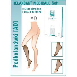Podkolanówki przeciwżylakowe Relaxsan Soft (klasa kompresji 22 - 32 mmHg, palce zakryte)