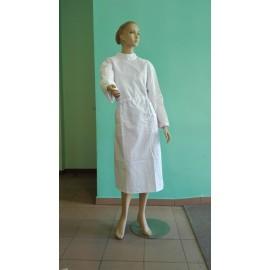 Fartuch chirurgiczny-prosektoryjny damski (kolor biały, elanobawełna, różne rozmiary) WYPRAWKA DLA ŻAKA