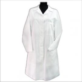 Fartuch lekarski bawełniany ( rękaw długi, guziki) WYPRAWKA DLA ŻAKA