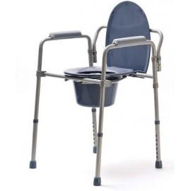 Krzesło toaletowe DRV (regulacja wysokości, wersja składana lub nieskładana)