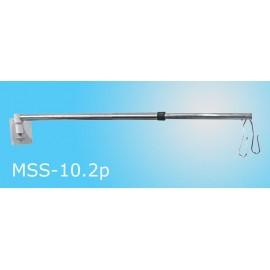 Parawan medyczny MSS-10.2 - przyścienny, z zasłoną, nr kat.13500