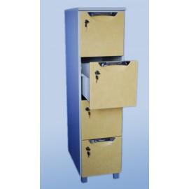 Szafa kartotekowa 4-szufladowa, 1-rzędowa  WYPOSAŻENIE SZKÓŁ