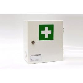 """Apteczka pierwszej pomocy stalowa na ścianę """"30"""" z wyposażeniem DIN 13157"""