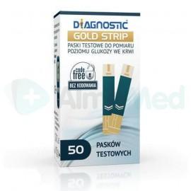 Paski do glukometru Diagnostic Gold Strip 50pasków