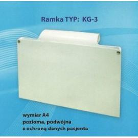 Ramka do kart gorączkowych z ochroną danych osobowych (zamknięte) (KG-3)