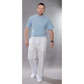 Spodnie lekarskie męskie M7631 (rozmiar 48/182, nogawka prosta, kolor biały)W