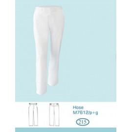 Spodnie lekarskie męskie M7631 (rozmiar 48/188, nogawka prosta, kolor biały)W