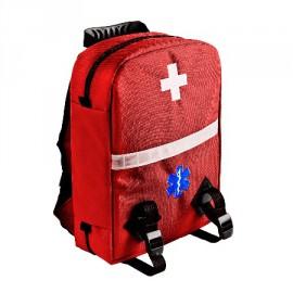 Apteczka pierwszej pomocy typu plecak 10l TRM-45 (kolor czerwony) WYPOSAŻENIE SZKÓŁ