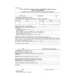 Druki - Karta badania rozwoju i zdrowia ucznia klasy III
