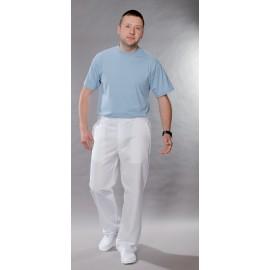 Spodnie lekarskie męskie M7631 (rozmiar 48/170, prosta nogawka, kolor biały)W