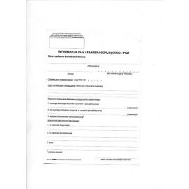 Druki - Informacja dla lekarza kierującego/POZ A5