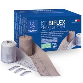 Kit BiflexShort Stretch - zestaw bandaży do leczenia owrzodzenia żylnego kończyn dolnych. Rozmiar 1