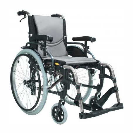 Wózek inwalidzki S Ergo Silver 115, szerokość siedziska: 46 cm