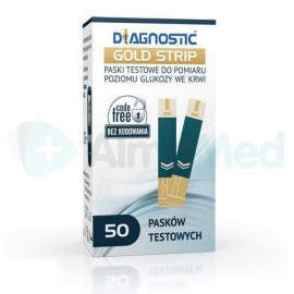 Paski do glukometru Diagnostic Gold Strip 50pasków