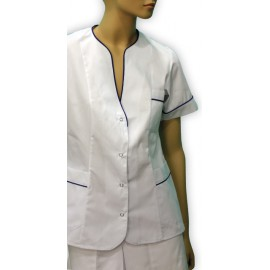 Bluza lekarska damska Wrzos, (rękaw krótki, materiał ze streczem)