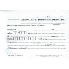 Druki - Skierowanie do poradni specjalistycznej A5 (a'100)