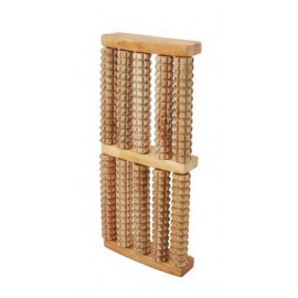 Masażer do stóp drewniany (2-rzędowy, 4-rolkowy)