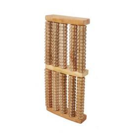 Masażer do stóp drewniany (5-rzędowy, 10-rolkowy)