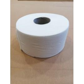 Papier toaletowy 1 warstwowy biały makulaturowy Jumbo (śr. 19 cm)
